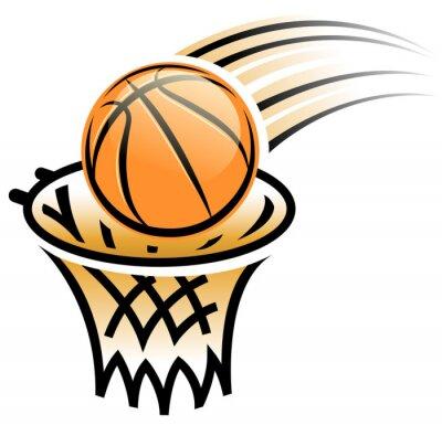 Nálepka basketbalový koš symbol