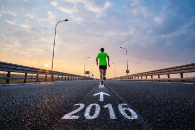 Nálepka Běh v novém roce 2016