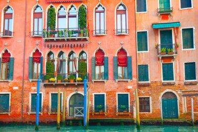 Nálepka Benátky budov na Canal Grande