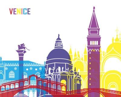 Nálepka Benátky panorama pop