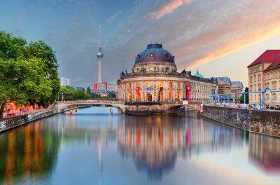 Nálepka Berlín, Bode muzeum s odrazem v Spree, Německo
