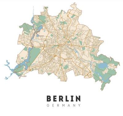 Nálepka Berlin map. Detailed poster city map Berlin. Germany