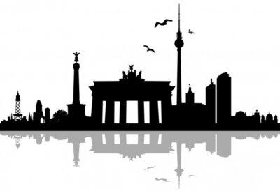 Nálepka Berlín panorama silueta