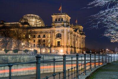 Nálepka Berlín Reichstag v noci