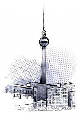 Nálepka Berlín Sketch