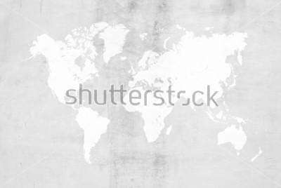 Nálepka Betonová omítka cementové leštění půdní styly nebo podlahy textury abstraktní textury pozadí pozadí pro pozadí s mapou světa