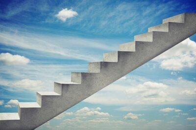 Nálepka betonová schodiště přes modrou oblohu