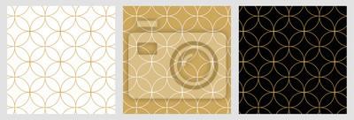 Nálepka Bezešvé abstraktní moderní geometrické kruh linie vzor pro elegantní zlaté vánoční pozadí