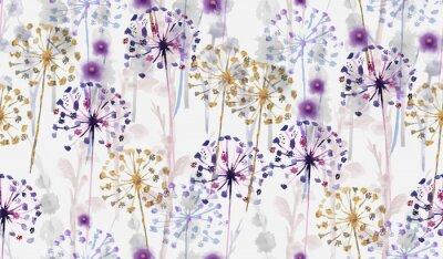 Nálepka Bezešvé akvarel divoký květinový vzor v ruce malování stylu, jemné květinové tapety