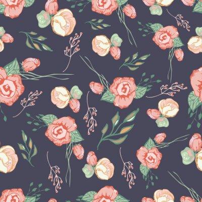 Nálepka Bezešvé barevné květinové vzor prvky 4