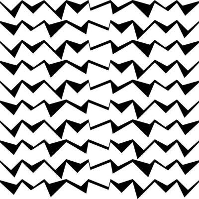 Nálepka Bezešvé černé a bílé ozdobný vector pozadí s abstraktním geometrickým vzorem