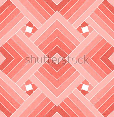 Nálepka Bezešvé geometrické živé korálové čtvercové vzory