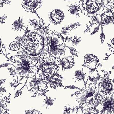 Nálepka Bezešvé květinovým vzorem.