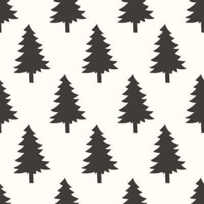 Nálepka bezešvé lesní vzor