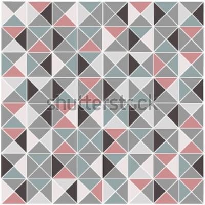 Nálepka Bezešvé rastrový geometrický kosočtverec barevný vzorek pozadí