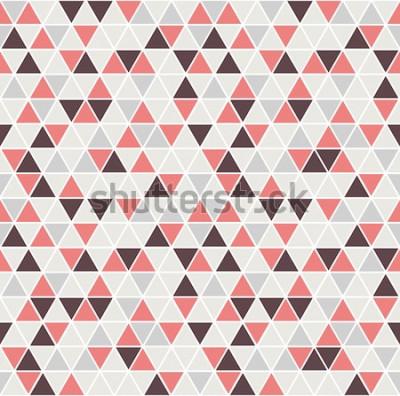 Nálepka Bezešvé trojúhelník vzor. Vektorové pozadí. Geometrická abstraktní textura