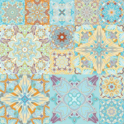 Nálepka Bezešvé vektoru vzor. Slátanina. v arabském stylu. Abstraktní ilustrace.