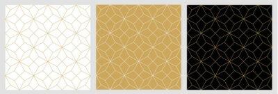 Nálepka Bezešvé vzor abstraktní hvězda Vánoční pozadí s elegantní zlaté vektorové čáry