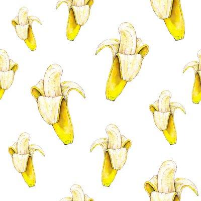 Nálepka Bezešvé vzor. Akvarel ilustrace. Tropické ovoce.