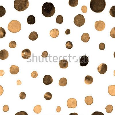 Nálepka bezešvé vzor akvarel puntíky. textil, dlaždice, tapety, balicí tisk. pohlednice, banner nebo abstraktní pozadí. ruční utopit opakovatelný vzor s barevnými tečkami nerovný tvar