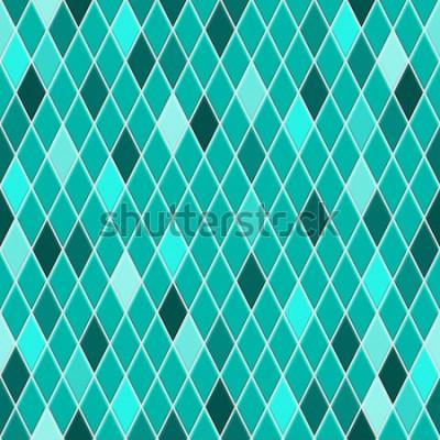 Nálepka Bezešvé vzor malých kosočtverců v tyrkysových barvách s některými barevnými kosočtverec