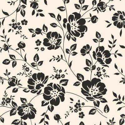 Nálepka Bezešvé vzor s květinami.
