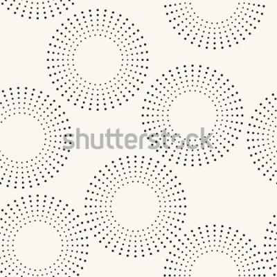 Nálepka Bezešvé vzor s tečkovanými kruhy. Vektorové opakující se texturu. Stylové pozadí