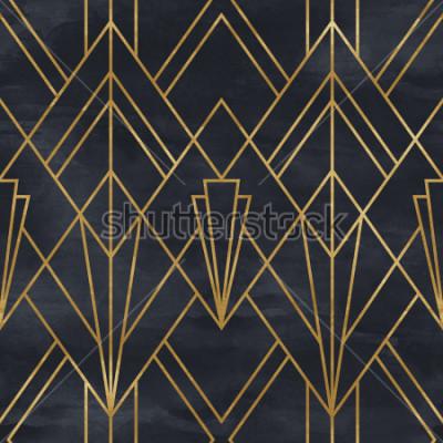 Nálepka Bezproblémový geometrický vzor na textury papíru. Art Deco pozadí
