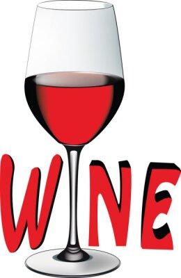 Nálepka Bicchiere di vino rosso