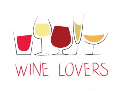 Nálepka Bicchieri di vino z diferenciálního con dicitura