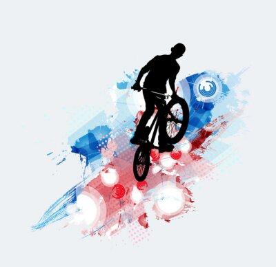Nálepka Bicycle jumper, sportovní pozadí