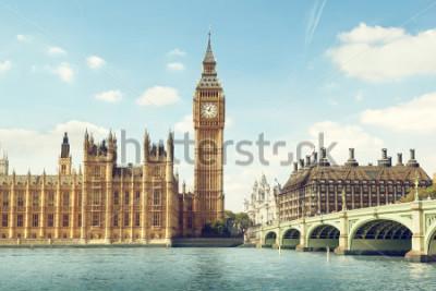 Nálepka Big Ben in sunny day, London