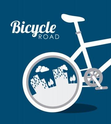 Nálepka Bike design, vektorové ilustrace.