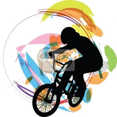 biker ilustrace