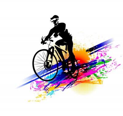 Nálepka Biker sport. Vektorové ilustrace