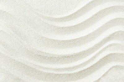 Nálepka Bílý písek textury na pozadí s vlnou vzorem