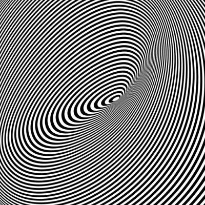 Nálepka Black and White Opt umění pozadí