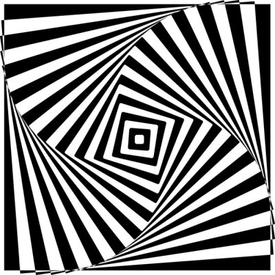 Nálepka Black and White optický klam vektorové ilustrace.