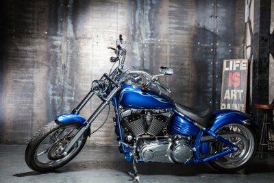 Nálepka blue chrom silniční kolo