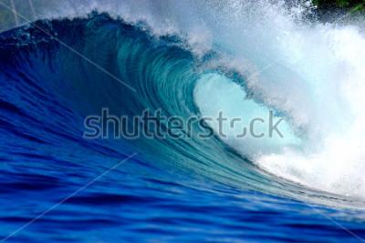 Nálepka Blue surfing wave