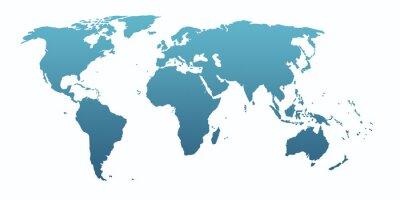 Nálepka blue world map