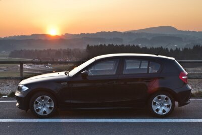 Nálepka BMW Sonnenuntergang Západ slunce