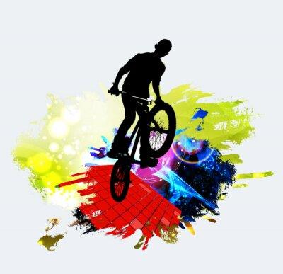 Nálepka BMX jumper během skoku triku