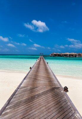 Nálepka Boardwalk do laguny na Maledivách