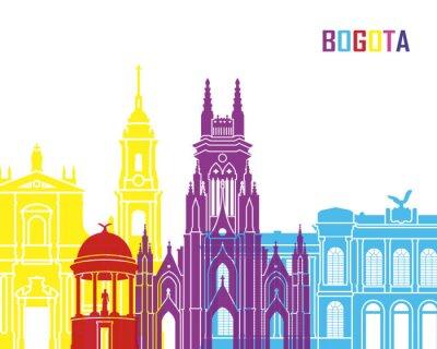 Nálepka Bogota panorama pop