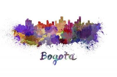 Nálepka Bogota panorama v akvarelu