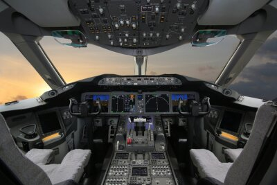 Nálepka Boing 787 Dreamliner, Cockpit