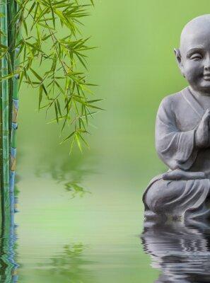 Nálepka bouddha enfant et bambou aquatique, složení zen