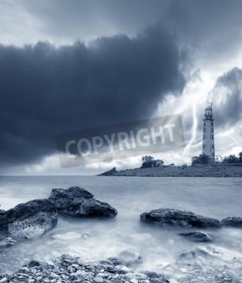 Nálepka bouře na moři