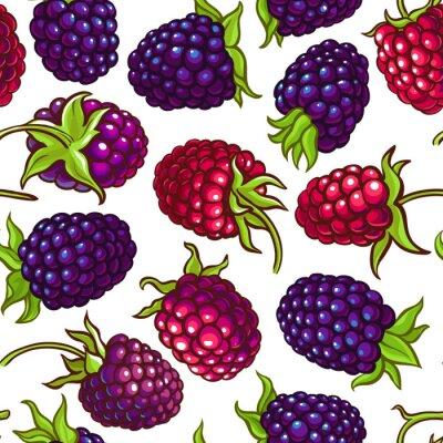 Nálepka boysenberry vector pattern